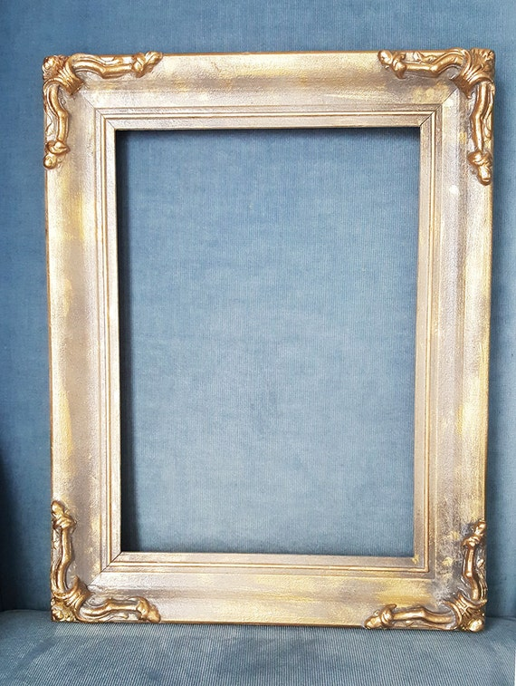 Ornate picture frame wood wall hanging decor vintage for Bungalow style picture frames