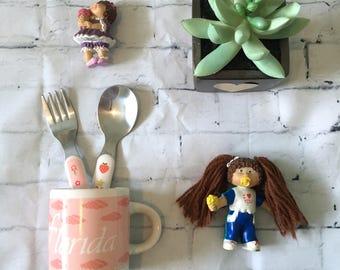 Vintage Florida Pink Seashells Souvenir Mini-Mug (1980s/1990s)