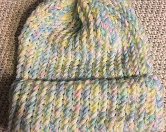 Handmade Pastel Winter Hat