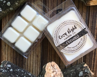 Firewood Soy Tart Wax Melts | Hand Poured | Clamshell Melts