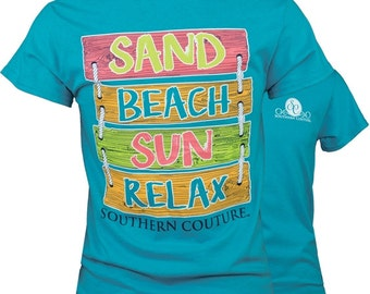 SC Classic Sand Beach Sun Sign - Propical Blue.....You may choose to have this personalized by getting your shirt Monogrammed.