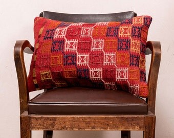 PAYPAL, Turkish kilim pillow, Decorative pillow, Vintage home decor, Cushion cover, Area pillow, Kilim rug pillow, 16x24 inches, 40x60 cm