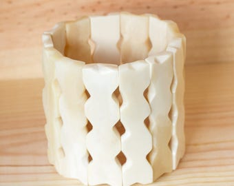 White Cuff Bracelet in os. made in Haiti