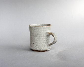 Stoneware White Coffee Cups, Coffee Mugs Pottery, Hand Made Mugs