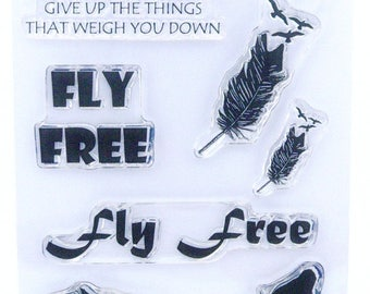 Fly Free - A6 Stamp Set by Imagine Design Create