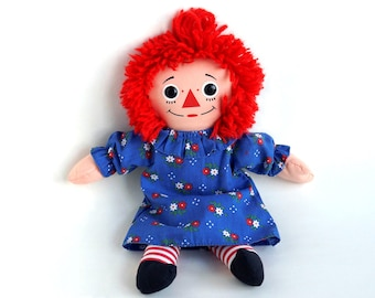 "Vintage Playskool Raggedy Ann Doll, Retro Raggedy Ann Rag Doll, 1987 Playskool 12"" Raggedy Ann, Excellent Condition"