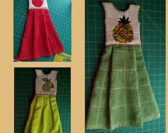 READY TO SHIP!!! Handmade hanging kitchen towel dress