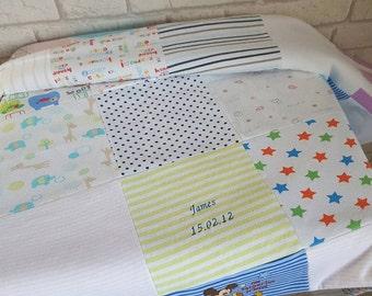 Keepsake Clothing Blanket made from Baby Clothes~Memory Blanket using Baby's Clothing~Keepsake Quilt~Babygrow Blanket