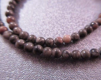 Crinoid Fossil 4mm Round Beads 100pcs