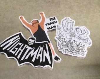 Always Sunny in Philadelphia Night Man Trash Man Charlie Frank Stickers