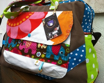 Diaper bag, large weekend bag * on order - fabric choices *.