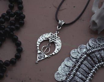 lunar star of David-pendant