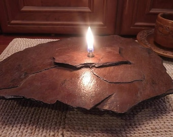 Candle Handmade, Rock Candle, Stone Candle, Oil Candle, Oil Lamp