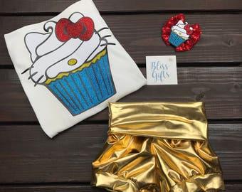 Hello Kitty Cupcake Birthday Shirt