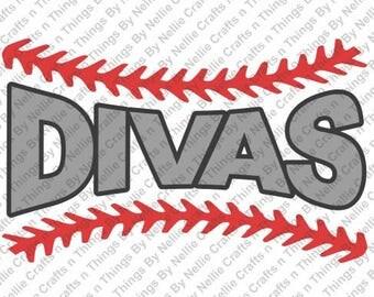 Baseball Divas SVG