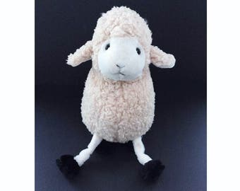 Large Vintage Toy Lamb, Soft and Cuddly