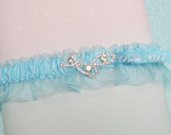 Turquoise Blue prom garter,  prom garters, custom color garters