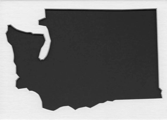Pack Of 3 Square Washington State Stencils Made From 4 Ply