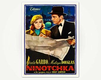 Ninotchka Vintage Movie Poster Print - Greta Garbo Classic Film Poster - Vintage Poster Art for Italian Release