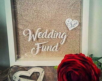 Wedding Fund, Wedding Drop Box, Honeymoon Fund, Wedding Money Box, Wedding Fund Frame, Engagement Gift, Personalised, Engagement Present