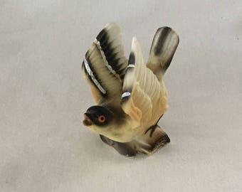 Vintage Colorful Porcelain Flying Bird Figurine