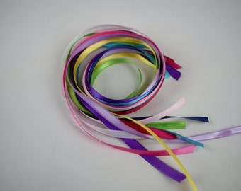 """1/4"""" Satin Ribbon - 10 Pieces - 18"""" Length"""