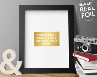 Custom designed inspirational quotes foil prints by for 8x10 office design