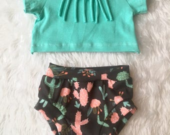 Cactus bloomer shorts, baby shorts, baby bloomers, shorts, toddler shorts, bloomers