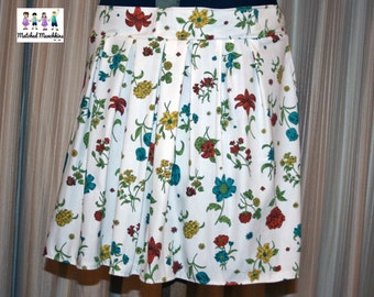 Women's Juniors Regular and Plus Skater Pleated Skirt Spring Summer Made to Order Custom Handmade