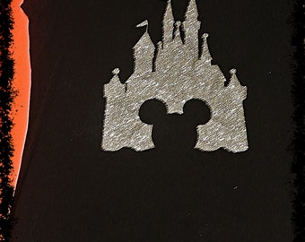 Cinderella Castle with Mickey cut out Shirt