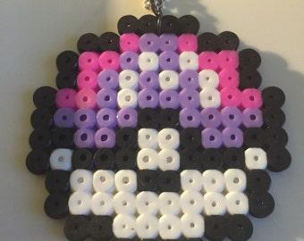 Masterball perler bead necklace