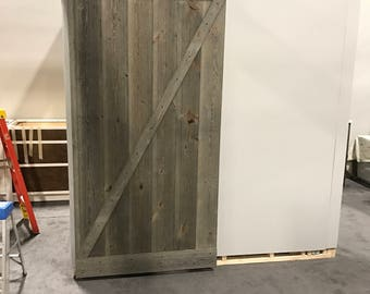 Custom built reclaimed barn doors track included