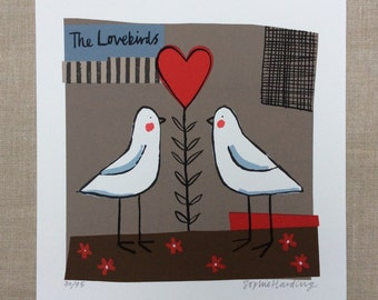 The Lovebirds screenprint