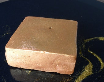 Triple Treat 24K Gold Bar/Bath Truffle/Bath Bomb/Bath Bubbles/Natural/Glitter/Peaches