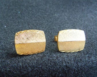 Cuff Links - Gold Vintage Cuff Links