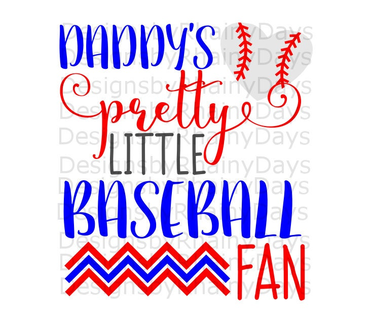 Buy 3 get 1 free! Daddy's pretty little baseball fan cutting file, SVG, DXF, png, daddy and daughter, baseball cutie, baseball girl design
