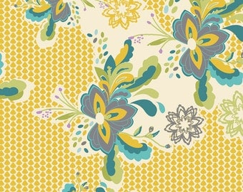 SALE Art Gallery Fabrics - Bari J Lilly Belle Flower Pop Zesty Fabric - LillyBelle - Clearance Fabric by the Yard - Six Dollar Art Gallery