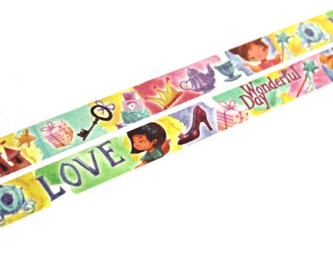Washi Tape - Princess Washi Tape - Floral Washi Tape - Paper Tape - Planner Washi Tape - Washi - Decorative Tape - Deco Paper Tape