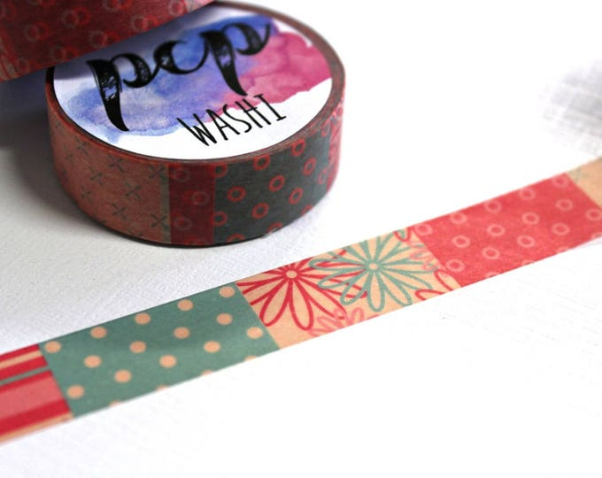 Polka dot Washi Tape - Washi Tape - Dot Washi Tape - Paper Tape - Planner Washi Tape - Washi - Decorative Tape - Deco Paper Tape - Flowers