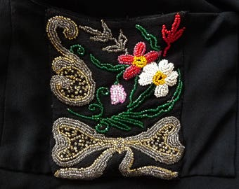WW II: Dress of shortage, poverty and luxery, beads embroidery