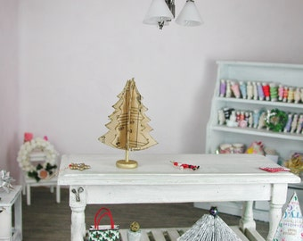 Fir Tree for Christmas decoration in 1:12, for the doll house, Dollhouse Miniatures, # 2