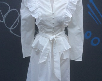 Vintage eighties Radley of London white skirt and jacket | size small