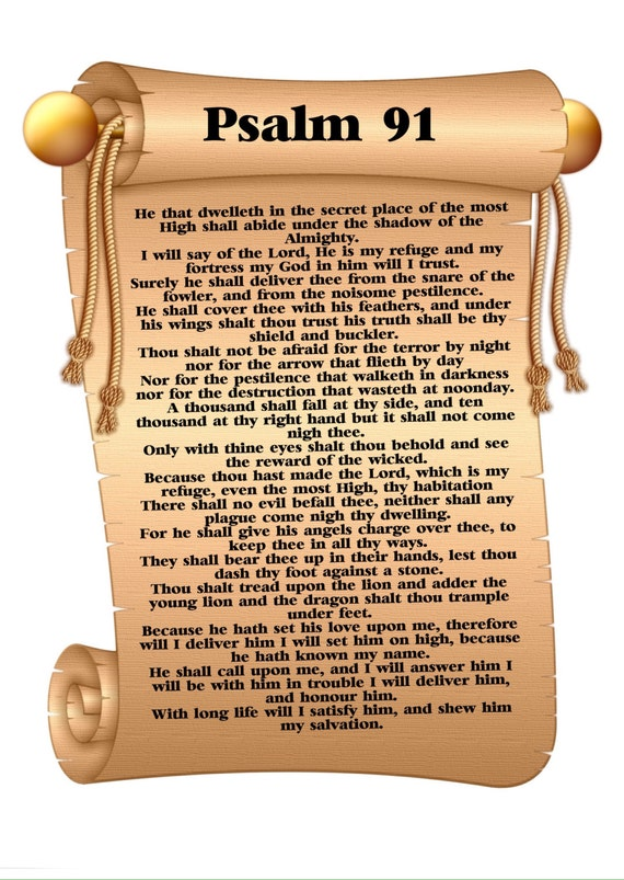 Adorable image within psalm 91 printable