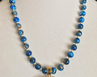 Mosiac beaded necklace and bracelet set