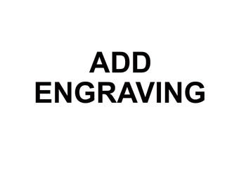 Add Engraving Special Add On