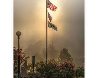 American Flag, Sylva, NC, North Carolina, Jackson County Courthouse