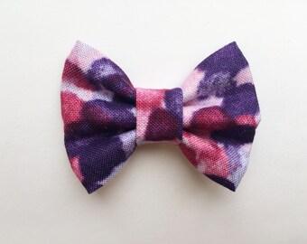 MINI Purple Lovin Bow, hair bows, baby girl, baby gift, baby headband, baby clip, purple bow, girl toddler, headband, hair bows