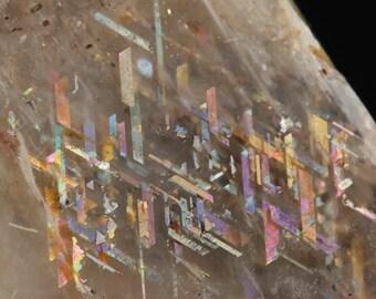3.3cm RAINBOW LATTICE SUNSTONE from Australia - Rare Crystal, Sunstone Jewelry Making, Sunstone Cabochon, Sunstone Moonstone 36506