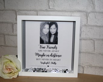 True friends are never apart maybe in distance but never in heart Photo Frame / best friends photo frame / friends frame /  frame for friend