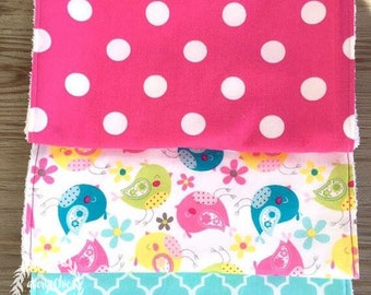 The Charlie - Gift Set of (3) Burp Cloths